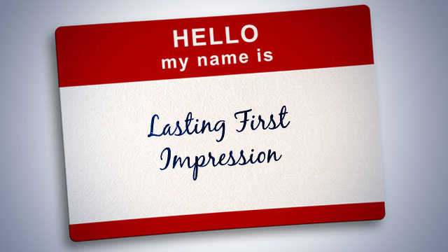 HELLO my name is: Lasting First Impression