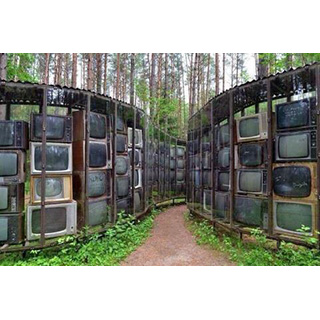 Wall made of tvs